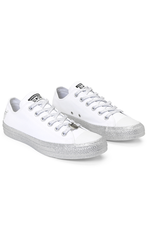 CONVERSE-Unisex sneakers CONVERSE MILEY CYRUS λευκά
