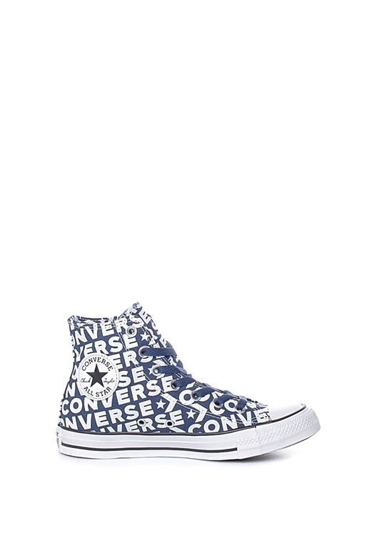 CONVERSE-Unisex μποτάκια CONVERSE Chuck Taylor All Star Hi μπλε-λευκά