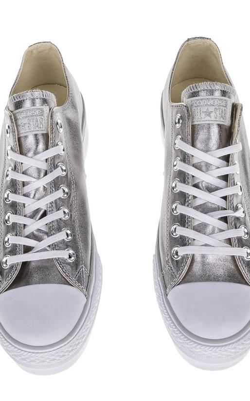 CONVERSE-Γυναικεία sneakers Chuck Taylor All Star ΟΧ ασημί