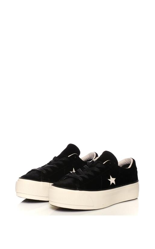 CONVERSE-Γυναικεία sneakers CONVERSE One Star Platform Ox μαύρα