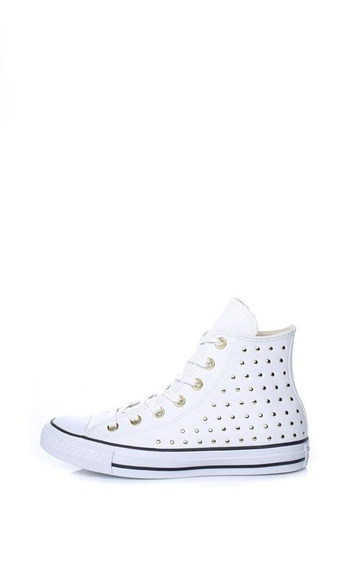CONVERSE-Γυναικεία ψηλά sneakers CONVERSE CHUCK TAYLOR ALL STAR λευκά με  τρουξ b149b35c533