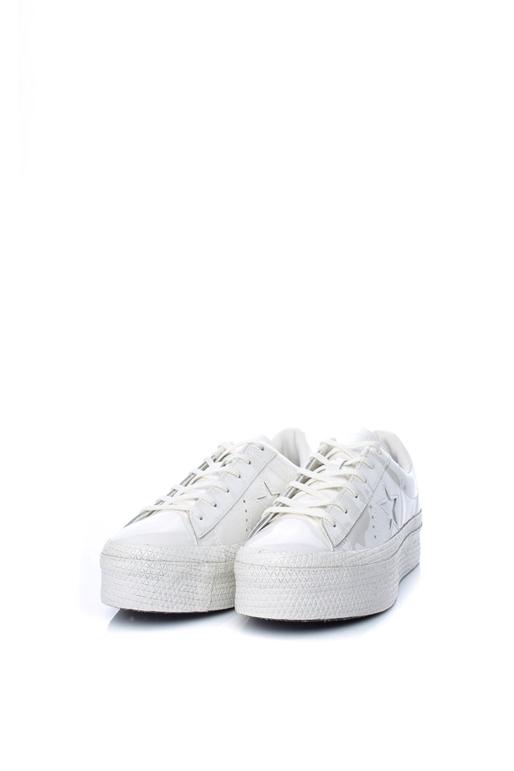 CONVERSE-Γυναικεία sneakers ONE STAR PLATFORM CONVERSE λευκά