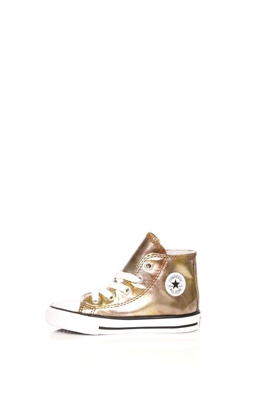 CONVERSE-Βρεφικά sneakers CONVERSE Chuck Taylor All Star Hi χρυσά