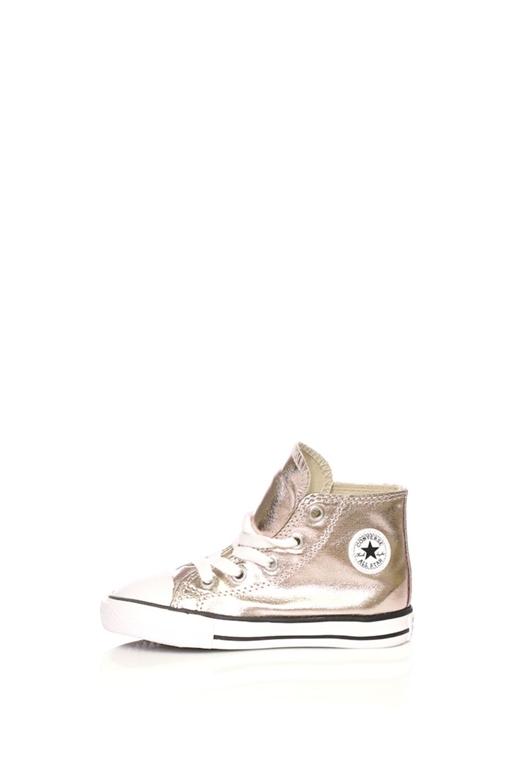 2d202a146d8 CONVERSE-Βρεφικά παπούτσια Converse Chuck Taylor All Star Hi ροζ μεταλλικό