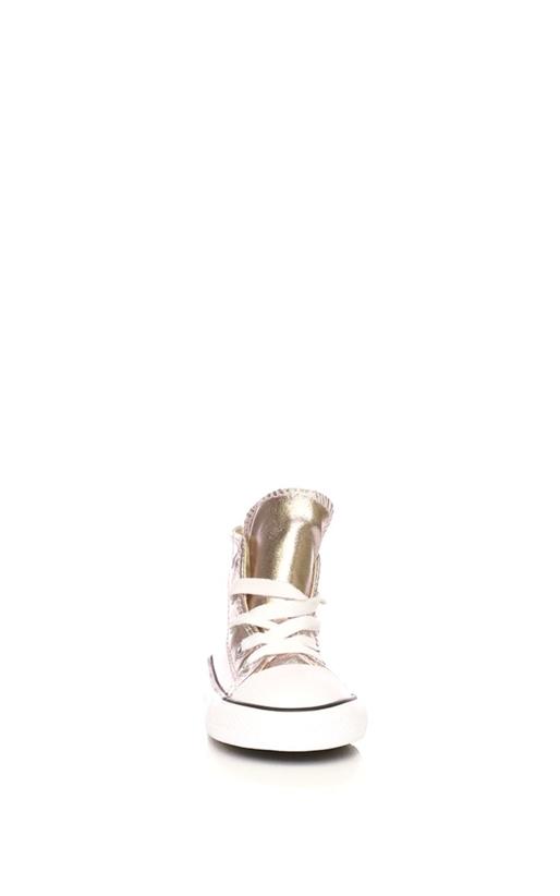 CONVERSE-Βρεφικά παπούτσια Converse Chuck Taylor All Star Hi ροζ μεταλλικό