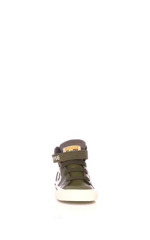 CONVERSE-Βρεφικά παπούτσια Converse Star Player Pro Blaze Strap Stretch Hi χακί