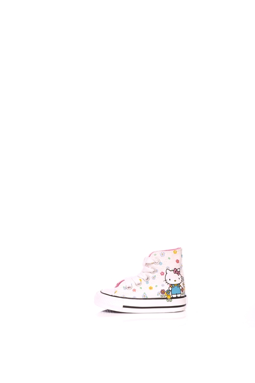 2020dbff932 CONVERSE-Παιδικά μποτάκια Converse X Hello Kitty Chuck Taylor All Star Hi  λευκά