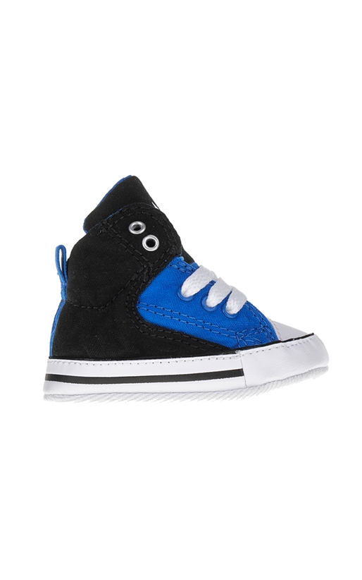 CONVERSE-Βρεφικά παπούτσια Chuck Taylor All Star First St μαύρα-μπλε