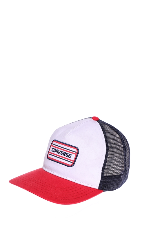 CONVERSE-Καπέλο τζόκεϋ Converse λευκό-κόκκινο