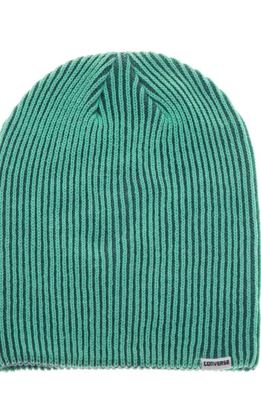 CONVERSE-Unisex σκούφος Converse CONTRAST RIB KNIT πράσινος