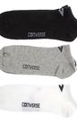 CONVERSE-Ανδρικό σετ κάλτσες Converse μαύρες-γκρι-λευκές