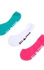 CONVERSE-Γυναικείο σετ κάλτσες CONVERSE πράσινες-ροζ-λευκές