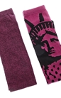 CONVERSE-Γυναικείες κάλτσες Converse σετ μωβ