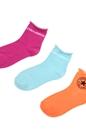 CONVERSE-Γυναικείο σετ κάλτσες CONVERSE ροζ-μπλε-πορτοκαλί