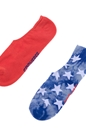 CONVERSE-Ανδρικό σετ κάλτσες CONVERSE κόκκινε-μπλε-λευκές