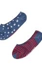 CONVERSE-Γυναικείο σετ κάλτσες CONVERSE μπλε-λευκές-κόκκινες