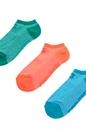 CONVERSE-Γυναικείο σετ κάλτσες CONVERSE πράσινες-μπλε-πορτοκαλί