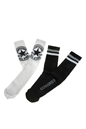 CONVERSE-Σετ ανδρικές κάλτσες Converse λευκές-μαύρες με σχέδια