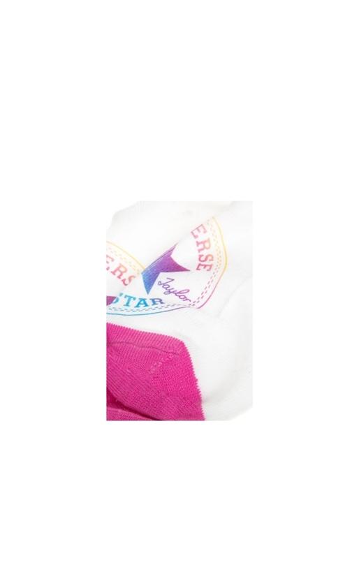 CONVERSE-Σετ γυναικείες κάλτσες Converse λευκές-ροζ-γαλάζιες