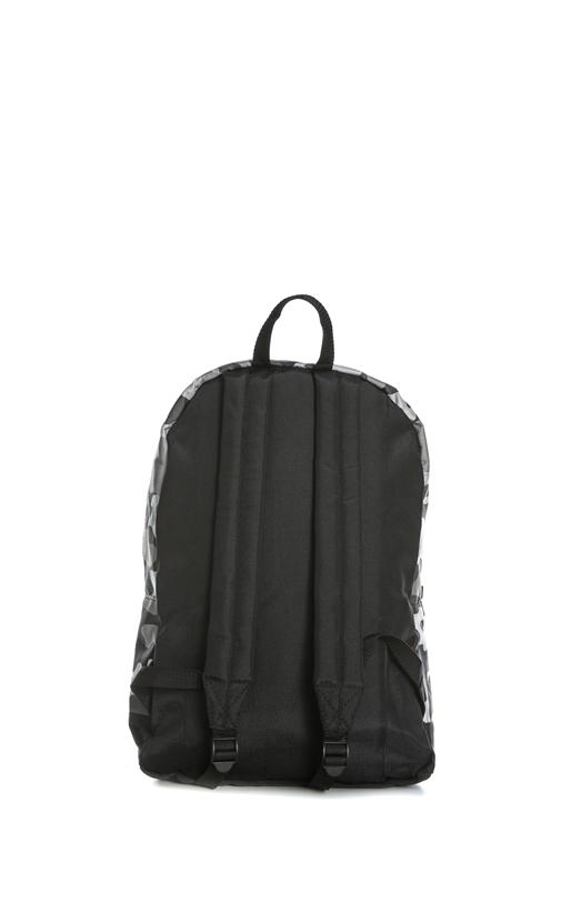 FRANKLIN & MARSHALL-Unisex τσάντα πλάτης FRANKLIN & MARSHALL γκρι-λευκή