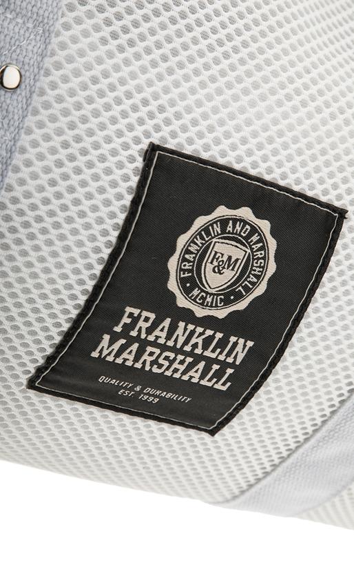 FRANKLIN & MARSHALL-Unisex σάκος Franklin & Marshall λευκός