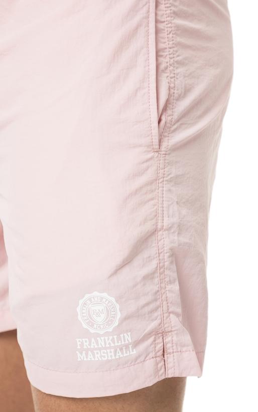 FRANKLIN & MARSHALL-Ανδρικό μαγιό σορτς Franklin & Marshall ροζ