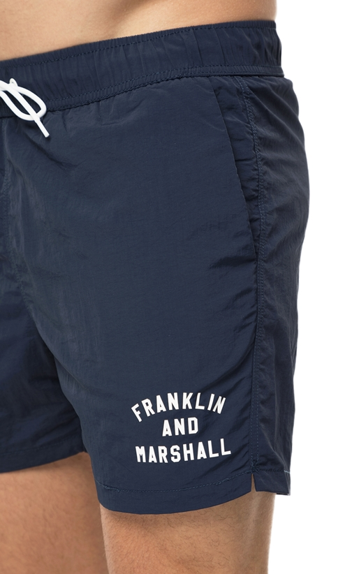 FRANKLIN & MARSHALL-Ανδρικό μαγιό σορτς Franklin & Marshall μπλε