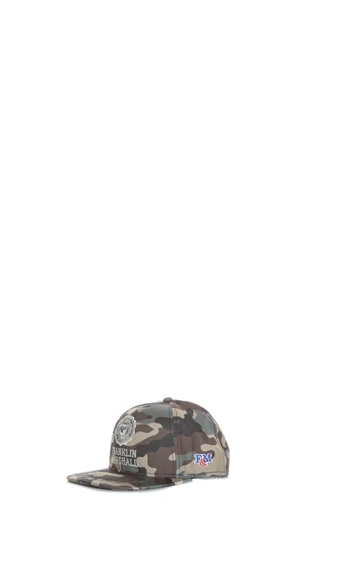 FRANKLIN & MARSHALL-Unisex καπέλο FRANKLIN & MARSHALL καφέ-χακί