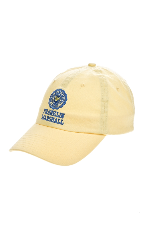 FRANKLIN & MARSHALL-Ανδρικό καπέλο jockey Franklin & Marshall κίτρινο