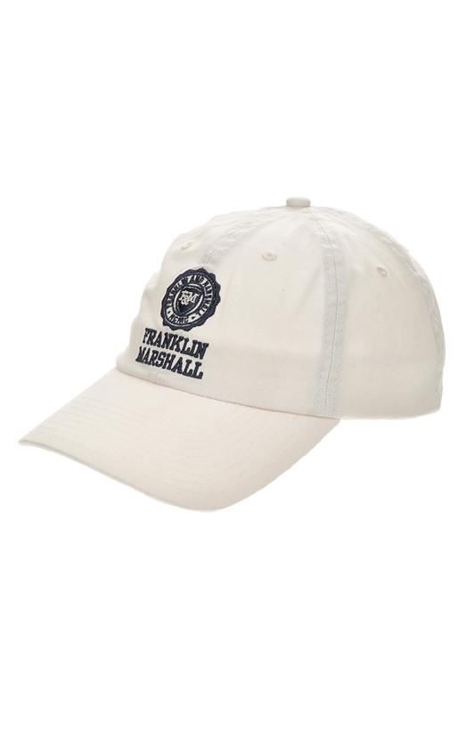 FRANKLIN & MARSHALL-Ανδρικό καπέλο jockey Franklin & Marshall λευκό