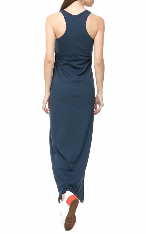 FRANKLIN & MARSHALL-Γυναικείο maxi φόρεμα Franklin & Marshall DRESS JERSEY UNI μπλε