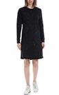 FRANKLIN & MARSHALL-Γυναικείο φόρεμα FRANKLIN & MARSHALL μαύρο