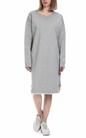 FRANKLIN & MARSHALL-Γυναικείο φόρεμα FRANKLIN & MARSHALL γκρι