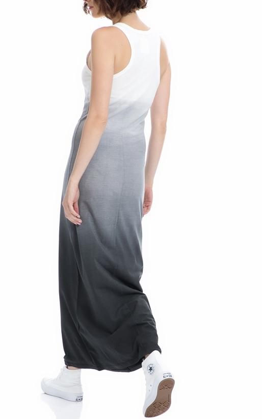FRANKLIN & MARSHALL-Γυναικείο φόρεμα Franklin & Marshall λευκό-γκρι