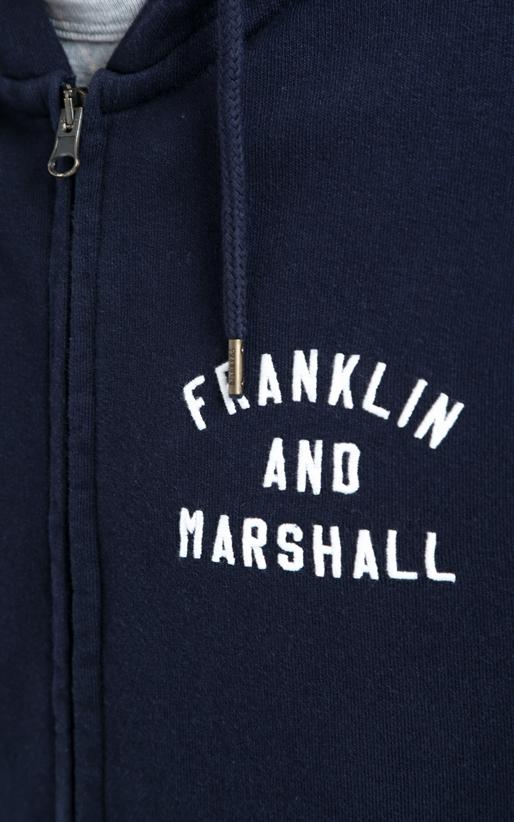 FRANKLIN & MARSHALL-Ανδρική ζακέτα Franlin & Marshall μπλε