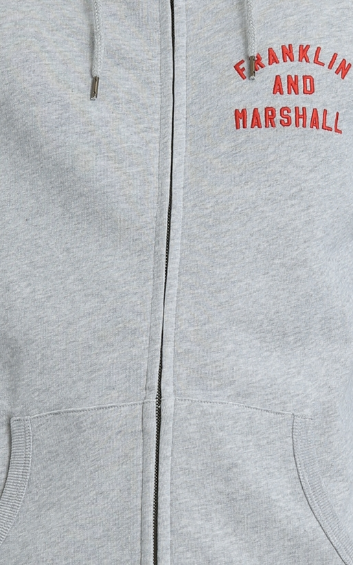 FRANKLIN & MARSHALL-Ανδρική ζακέτα Franklin & Marshall γκρι