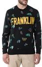 FRANKLIN & MARSHALL-Ανδρικό φούτερ Franklin & Marshall μαύρο