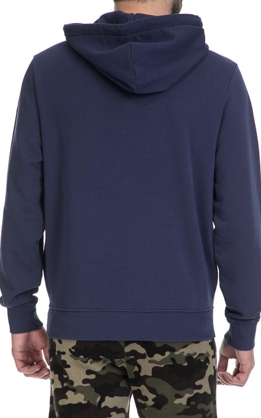 FRANKLIN & MARSHALL-Ανδρική φούτερ μπλούζα FRANKLIN & MARSHALL μπλε
