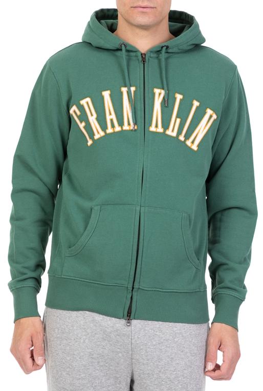 79877afa6efd FRANKLIN   MARSHALL-Ανδρική φούτερ ζακέτα FRANKLIN   MARSHALL πράσινη
