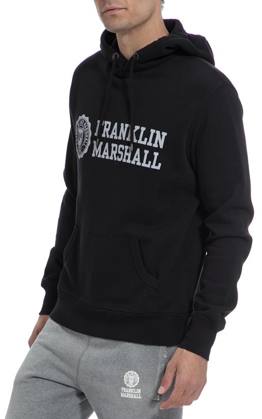 FRANKLIN & MARSHALL-Αντρικό φούτερ FRANKLIN & MARSHALL μαύρο