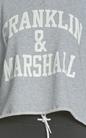 FRANKLIN & MARSHALL-Γυναικεία μακρυμάνικη μπλούζα Franklin & Marshall γκρι
