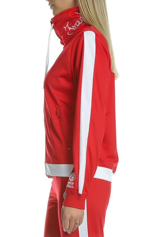 829575039e4f FRANKLIN   MARSHALL-Γυναικεία φούτερ ζακέτα FRANKLIN   MARSHALL κόκκινη