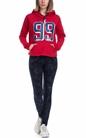 FRANKLIN & MARSHALL-Γυναικεία φούτερ μπλούζα FRANKLIN & MARSHALL κόκκινη