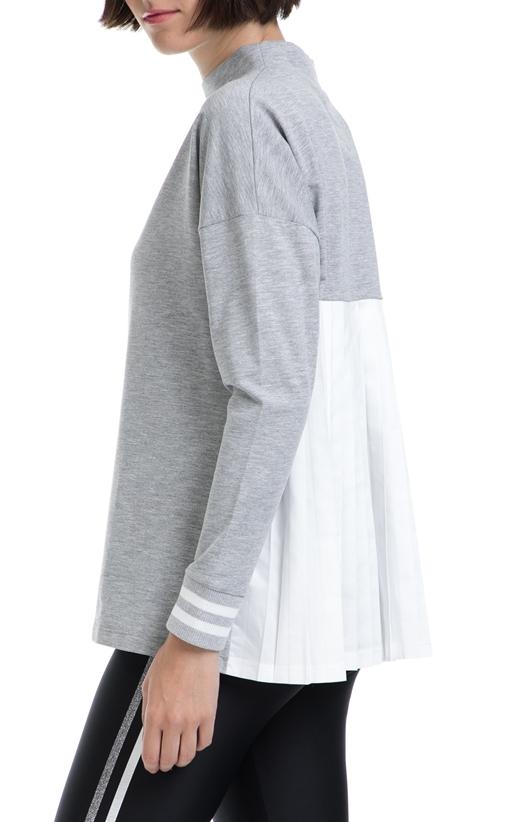 FRANKLIN & MARSHALL-Γυναικεία μπλούζα FRANKLIN & MARSHALL γκρι