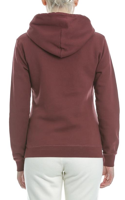 FRANKLIN & MARSHALL-Γυναικεία φούτερ μπλούζα FRANKLIN & MARSHALL μπορντό