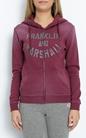 FRANKLIN & MARSHALL-Γυναικεία φούτερ ζακέτα FRANKLIN & MARSHALL ροζ