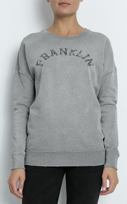 FRANKLIN & MARSHALL-Γυναικείο φούτερ FRANKLIN & MARSHALL γκρι