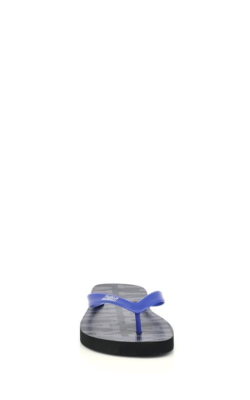 FRANKLIN & MARSHALL-Unisex σαγιονάρες Franklin & Marshall μπλε-μαύρες