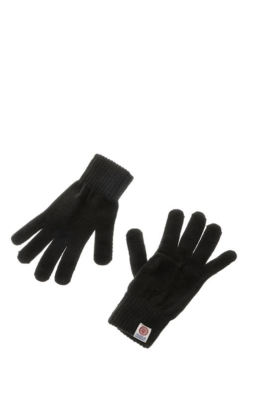 FRANKLIN & MARSHALL-Unisex γάντια FRANKLIN & MARSHALL μαύρα