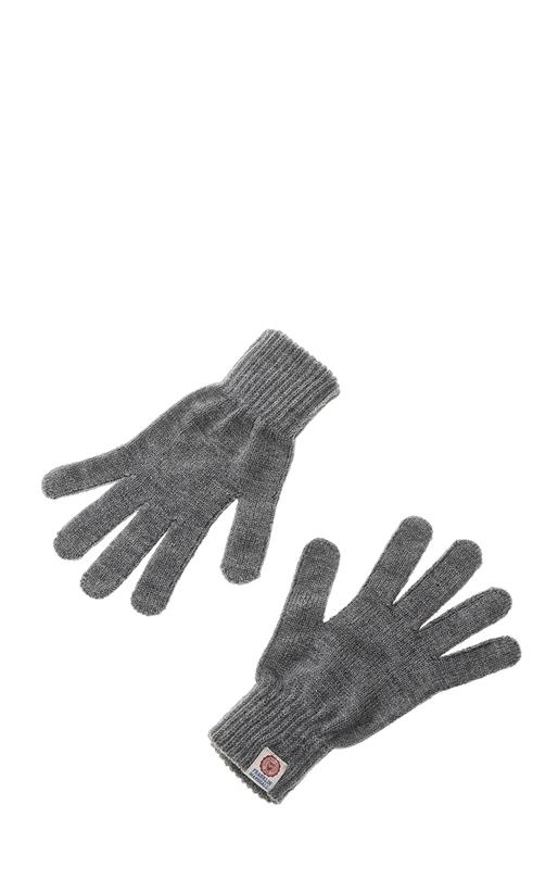 FRANKLIN & MARSHALL-Unisex γάντια FRANKLIN & MARSHALL γκρι